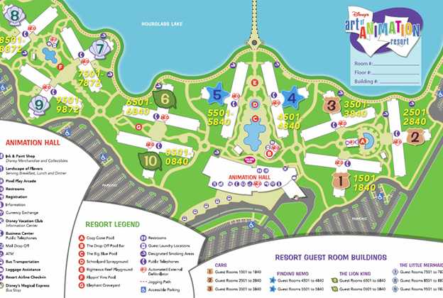 Disney's Art of Animation Resort map