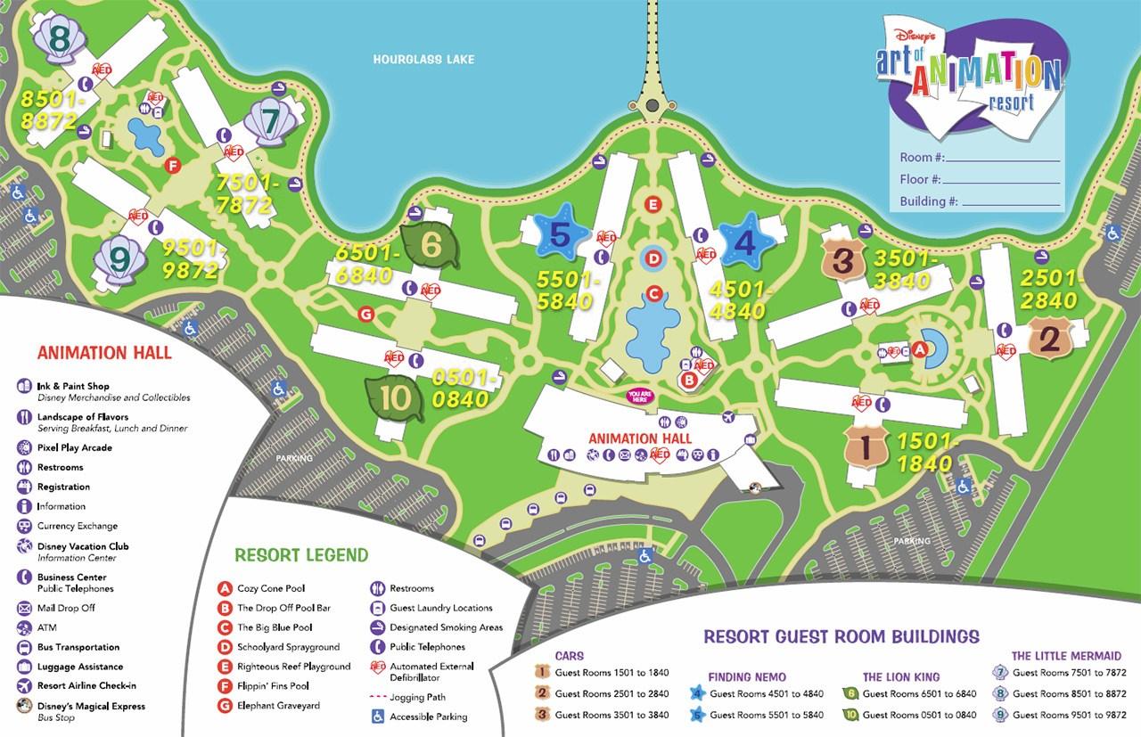 Disney's Art of Animation Resort map