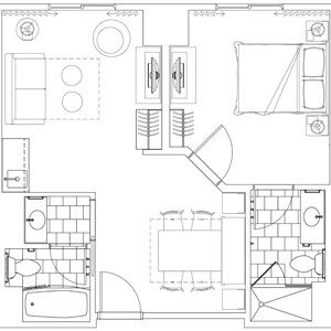 2 of 2: Disney's Art of Animation Resort - Family suite floor plan