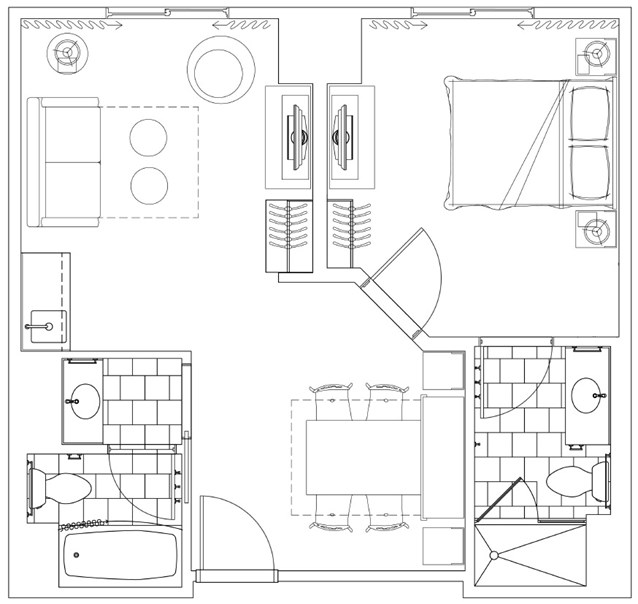 Disney's Art of Animation Resort - Family suite floor plan