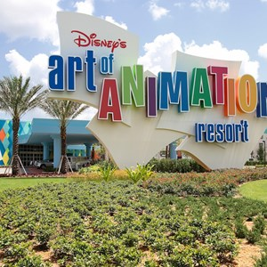 1 of 44: Disney's Art of Animation Resort - Main entrance signage