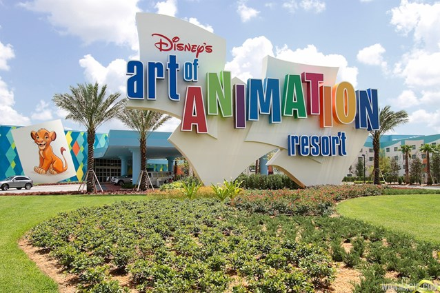 Disney's Art of Animation Resort - Main entrance signage