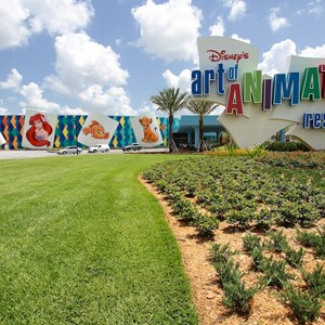 2 of 44: Disney's Art of Animation Resort - Disney's Art of Animation - Entrance, bus stops, Animation Hall