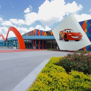 4 of 44: Disney's Art of Animation Resort - Disney's Art of Animation - Entrance, bus stops, Animation Hall
