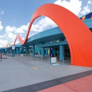 6 of 44: Disney's Art of Animation Resort - A view along the bus stops