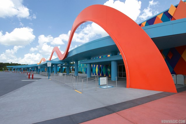 Disney's Art of Animation Resort - A view along the bus stops