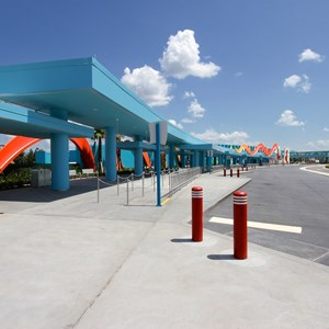 7 of 44: Disney's Art of Animation Resort - View from the last bus stop towards Animation Hall
