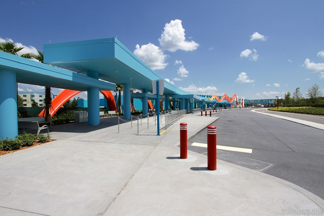 Disney's Art of Animation Resort - View from the last bus stop towards Animation Hall