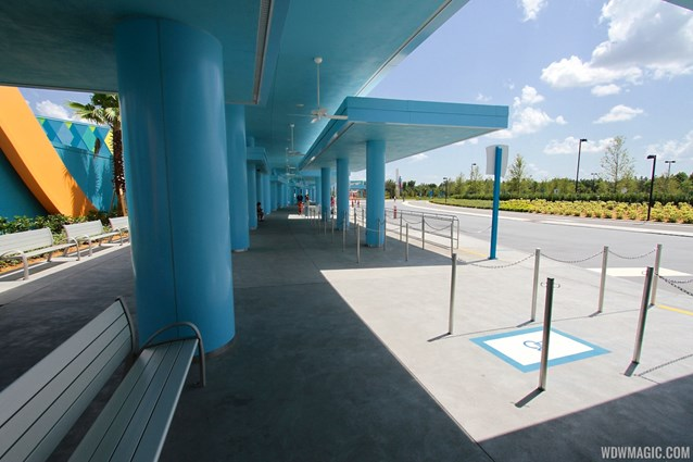 Disney's Art of Animation Resort - Under the covered bus stops