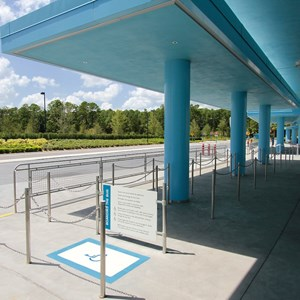 9 of 44: Disney's Art of Animation Resort - Each bus stop has a dedicated wheelchair line