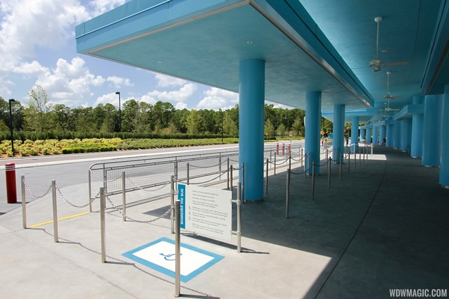 Disney's Art of Animation Resort - Each bus stop has a dedicated wheelchair line