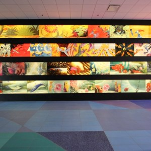 11 of 44: Disney's Art of Animation Resort - Animation artwork lines the walls of the lobby