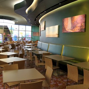 25 of 44: Disney's Art of Animation Resort - Landscape of Flavors Cars seating section