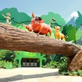 Disney&#39;s Art of Animation Resort - Timon, Pumba and Simba in the Lion King section at Disney&#39;s Art of Animation Resort