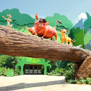 4 of 14: Disney's Art of Animation Resort - Timon, Pumba and Simba in the Lion King section at Disney's Art of Animation Resort