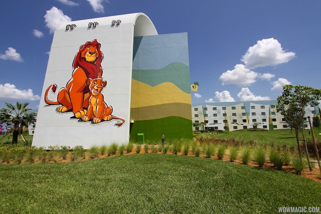 Disney's Art of Animation Resort - The parking lot side of the Lion King section at Disney's Art of Animation Resort