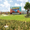 Disney's Art of Animation Resort - The view of the Cars section from Animation Hall at Disney's Art of Animation Resort