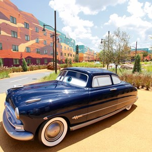 3 of 33: Disney's Art of Animation Resort - Doc Hudson in the Cars area at Disney's Art of Animation Resort