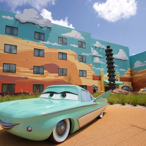 5 of 33: Disney's Art of Animation Resort - Flo in the Cars section of Disney's Art of Animation Resort