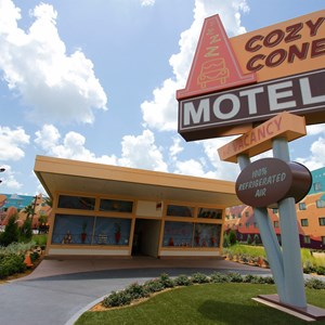 6 of 33: Disney's Art of Animation Resort - The Cozy Cone Motel in the Cars section at Disney's Art of Animation Resort