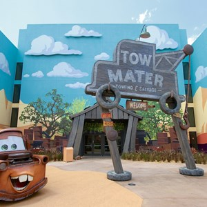7 of 33: Disney's Art of Animation Resort - Tow Mater in the Cars section of Disney's Art of Animation Resort