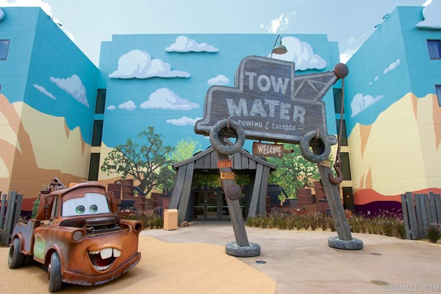 Disney's Art of Animation Resort - Tow Mater in the Cars section of Disney's Art of Animation Resort