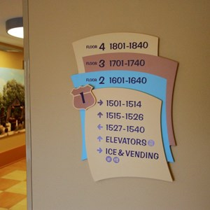 9 of 33: Disney's Art of Animation Resort - Room directory in the Cars section of Disney's Art of Animation Resort