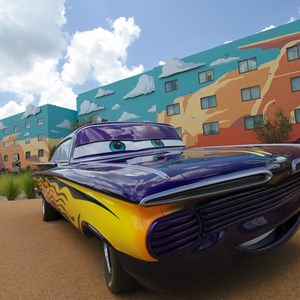 14 of 33: Disney's Art of Animation Resort - Romone in the Cars section of Disney's Art of Animation Resort