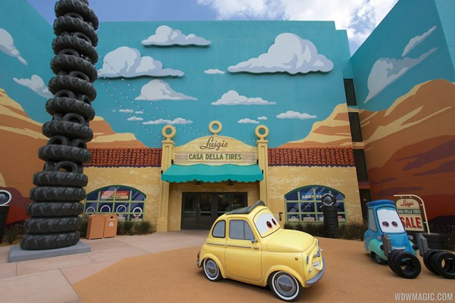 Disney's Art of Animation Resort - Luigi and Guido in the Cars section of Disney's Art of Animation Resort