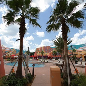 19 of 33: Disney's Art of Animation Resort - Cozy Cone Pool area in the Cars section at Disney's Art of Animation Resort