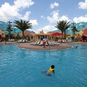 25 of 33: Disney's Art of Animation Resort - Cozy Cone Pool area in the Cars section at Disney's Art of Animation Resort
