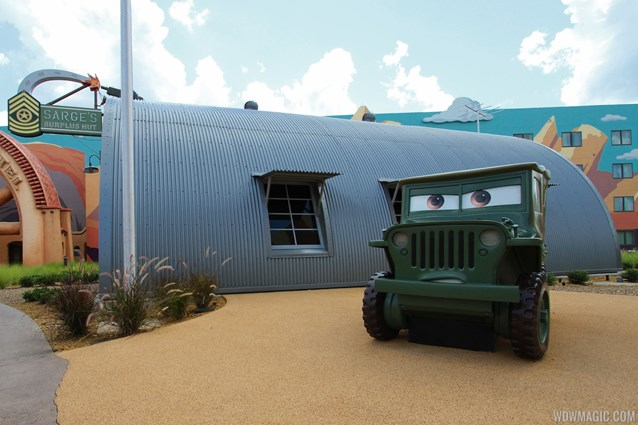 Disney's Art of Animation Resort - Sarge in the Cars area of Disney's Art of Animation Resort