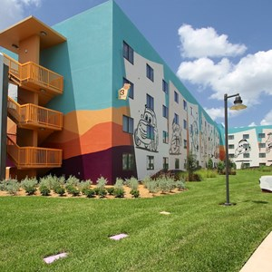 33 of 33: Disney's Art of Animation Resort - The rear of the Cars section buildings at Disney's Art of Animation Resort