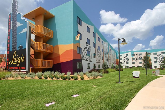 Disney's Art of Animation Resort - The rear of the Cars section buildings at Disney's Art of Animation Resort
