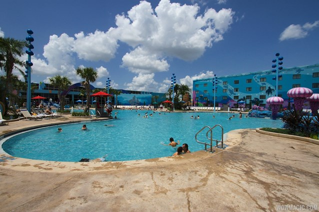 Disney's Art of Animation Resort - The Big Blue Pool in the Finding Nemo section of Disney's Art of Animation Resort