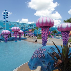 5 of 26: Disney's Art of Animation Resort - Zero entry side of the Big Blue Pool in the Finding Nemo section of Disney's Art of Animation Resort