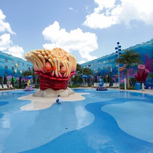 6 of 26: Disney's Art of Animation Resort - The Schoolyard water playground in the Finding Nemo section of Disney's Art of Animation Resort