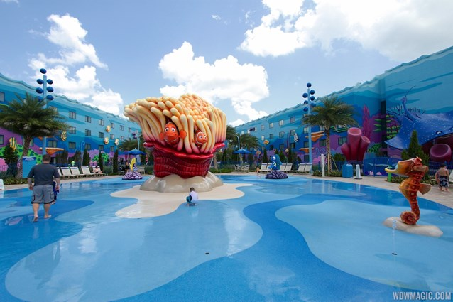 Disney's Art of Animation Resort - The Schoolyard water playground in the Finding Nemo section of Disney's Art of Animation Resort