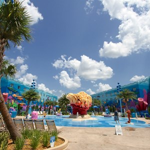 7 of 26: Disney's Art of Animation Resort - The Schoolyard water playground in the Finding Nemo section of Disney's Art of Animation Resort