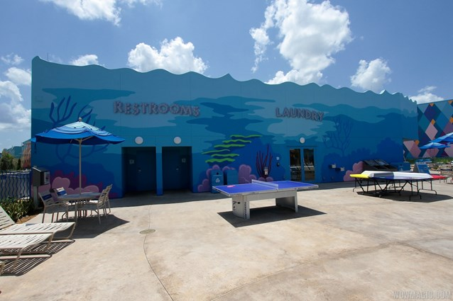 Disney's Art of Animation Resort - Recreation and restrooms building in the Finding Nemo section of Disney's Art of Animation Resort