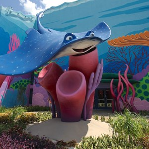 12 of 26: Disney's Art of Animation Resort - Mr Ray in the Finding Nemo section of Disney's Art of Animation Resort