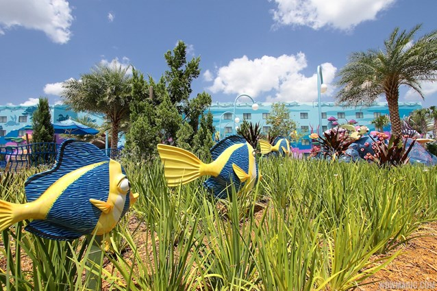 Disney's Art of Animation Resort - Gardens in the Finding Nemo section of Disney's Art of Animation Resort