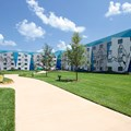Disney&#39;s Art of Animation Resort - The parking lot side of the Finding Nemo section of Disney&#39;s Art of Animation Resort