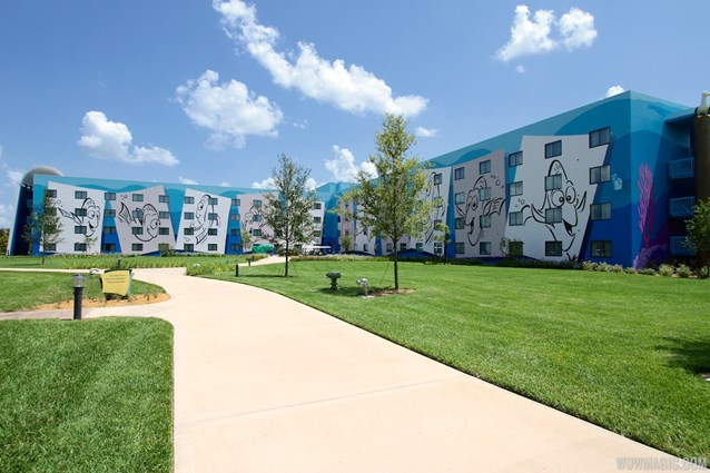 Disney's Art of Animation Resort - The parking lot side of the Finding Nemo section of Disney's Art of Animation Resort