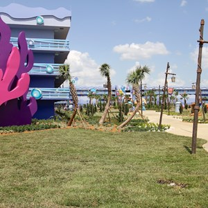 2 of 4: Disney's Art of Animation Resort - Disney's Art of Animation - Little Mermaid section viewed from the Lion King section
