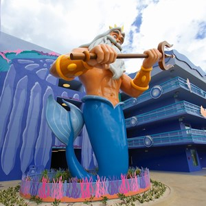 1 of 31: Disney's Art of Animation Resort - Disney's Art of Animation - Little Mermaid section King Triton