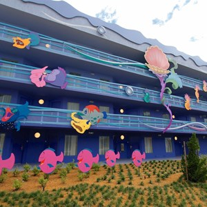 7 of 31: Disney's Art of Animation Resort - Disney's Art of Animation - Little Mermaid section room exterior
