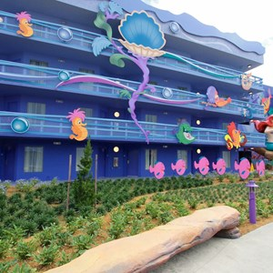 9 of 31: Disney's Art of Animation Resort - Disney's Art of Animation - Little Mermaid section room exterior