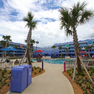 5 of 31: Disney's Art of Animation Resort - Disney's Art of Animation - Little Mermaid section - Flippin' Fins Pool