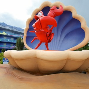 10 of 31: Disney's Art of Animation Resort - Disney's Art of Animation - Little Mermaid section Sebastian figure